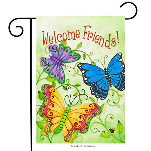 Briarwood Lane Butterfly Welcome Spring Garden Flag Welcome Friends Butterflies 12.5