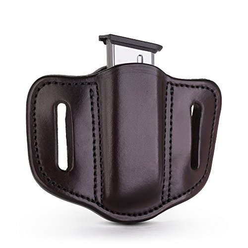 1791 GUNLEATHER Single Mag Holster, OWB Magazine Holster for Belts (Signature Brown)