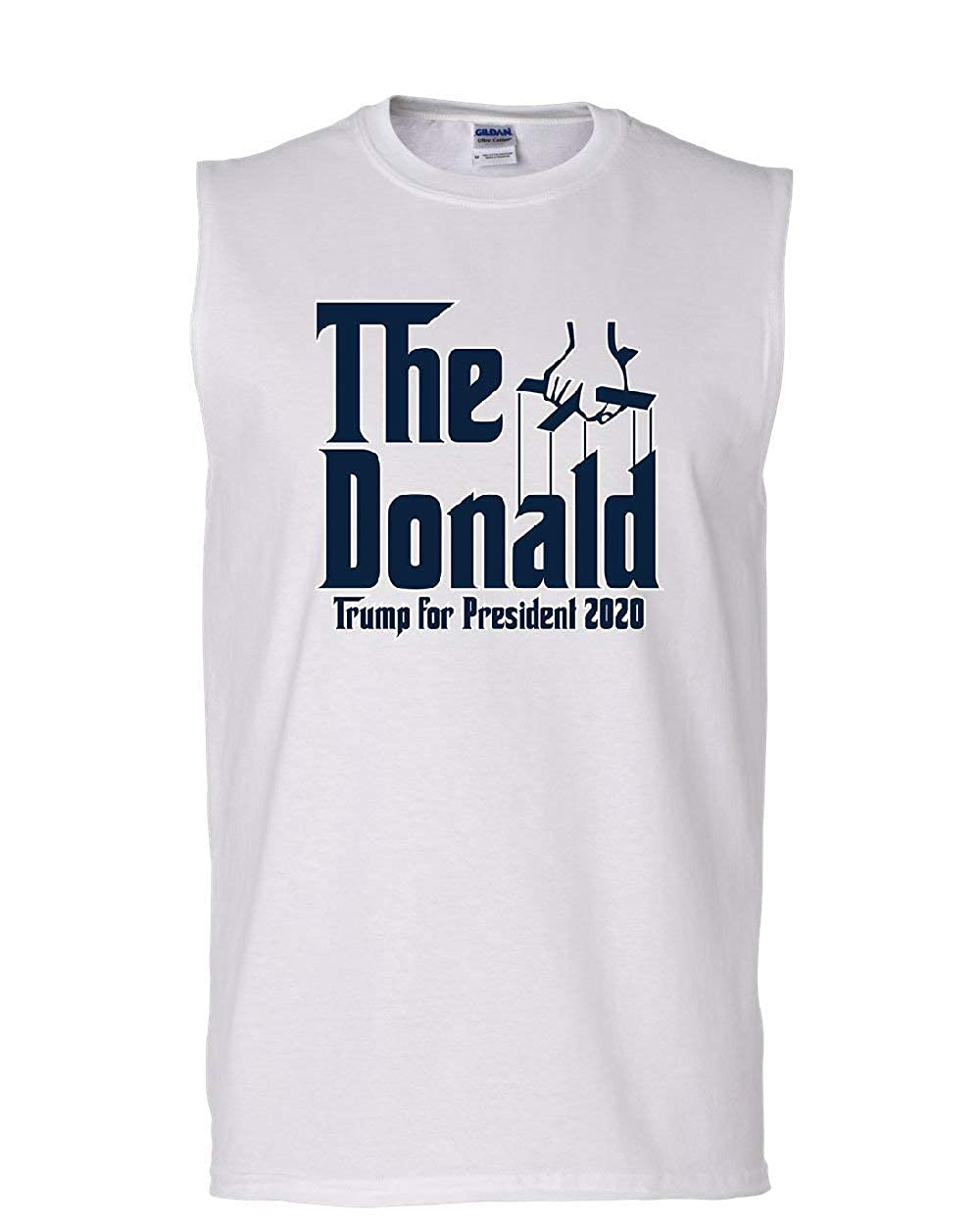The Donald Muscle Shirt Funny Parody Trump American President 2020 Sleeveless