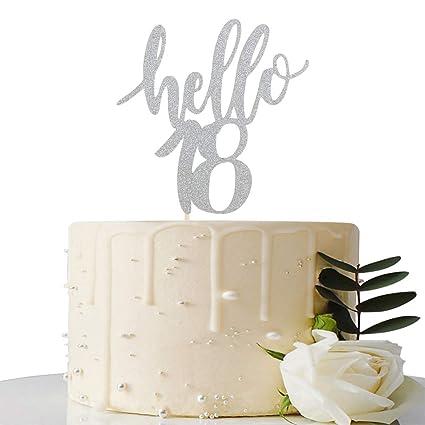 Decoración para tarta de 18 cumpleaños y 18 aniversarios ...