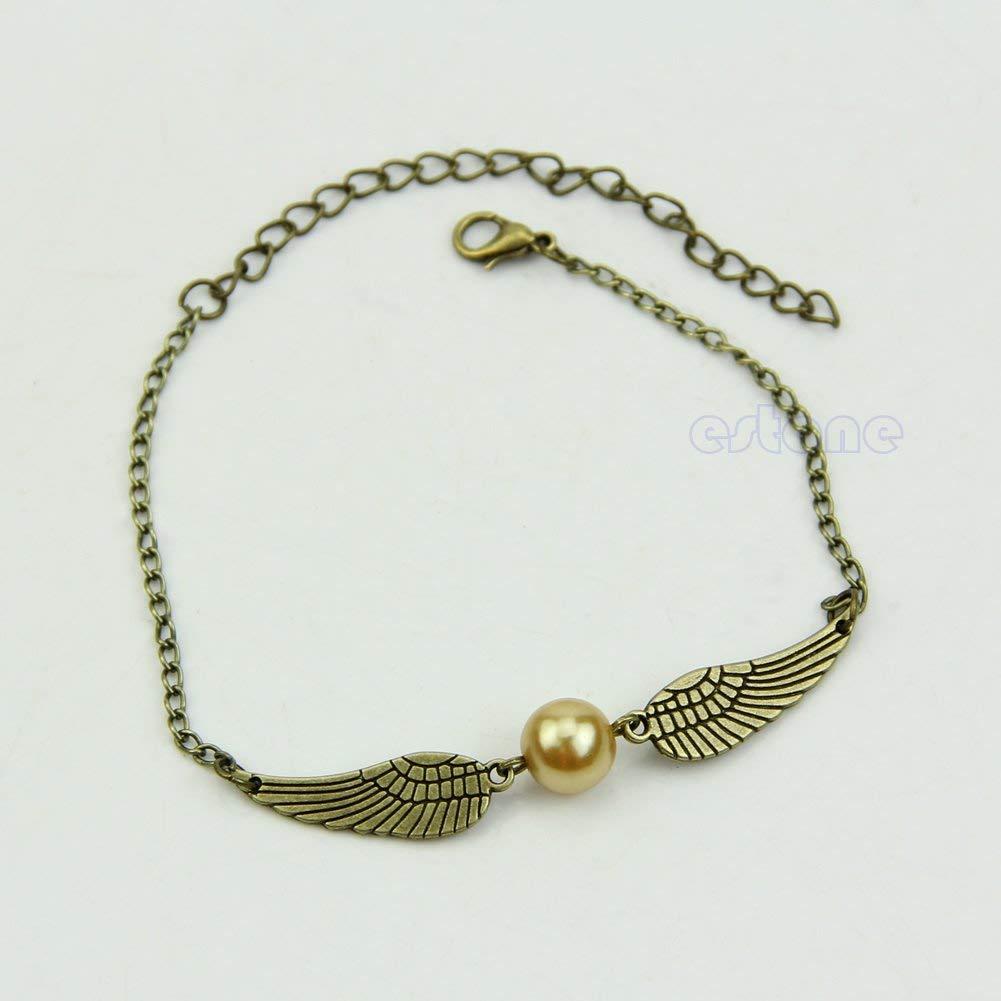 SimpleLife Film Harry Potter Mode r/étro Bracelet Pendentif Or Snitch