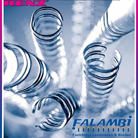 50 Blatt 100 RENZ Plastikbinder/ücken 8,0 mm DIN A4 blau
