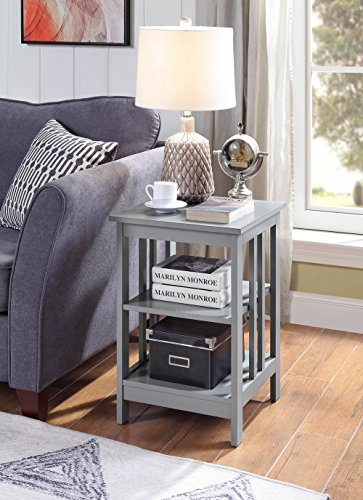 Convenience Concepts 203385GY End Table, Gray