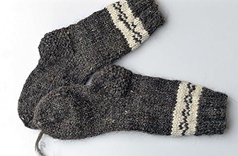 VERY THICK Socks Winter Women Men Ski Sheep Wool Handmade Knitted Knit Warm Bed Boots Climbing Trekking Hiking SMALL SIZE