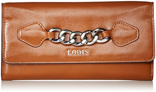 Lodis Rodeo Chain Luna Clutch Wallet, toffee