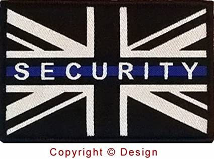 Fina línea azul de seguridad Badge (gancho & loop): Amazon.es: Oficina y papelería
