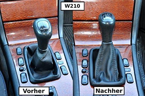Involucro con pomello per cambio in vera pelle N232 compatibile con Mercedes W210 W124 classe E
