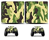 Cosines PS4 Slim Stickers Vinyl Decal Protective Console Skins Cover for Sony Playstation 4 Slim and 2 Controllers Camouflage