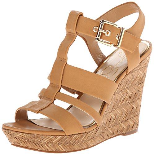 Jessica Simpson Women's Casie2 Wedge Sandal, Ambra, 8 M US