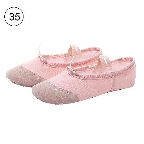 Liteness Zapatillas de Ballet de Lona para niñas/Zapatillas de Ballet, Zapatillas de Baile