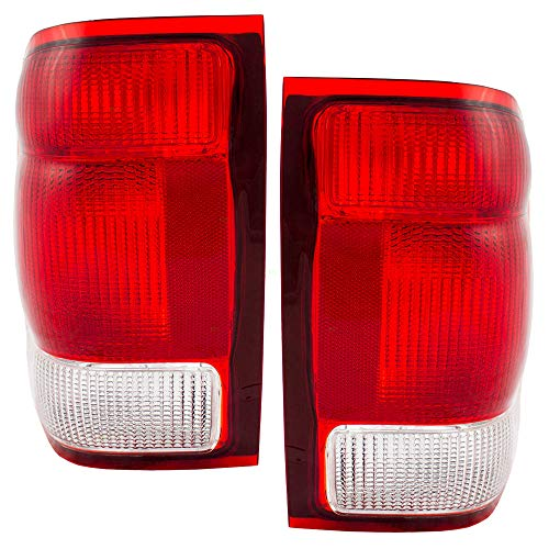 Driver and Passenger Taillights Tail Lamps Replacement for Ford Pickup Truck YL5Z13405AA YL5Z13404AA