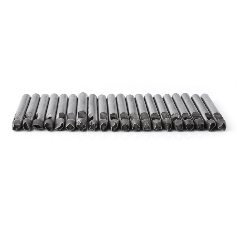 20 pcs //set Leather Craft 6mm Carbon Steel Flower Punch Hole Tool for Wallet// Belt Decoration