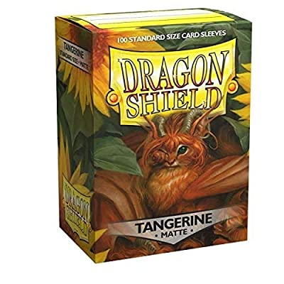 Sleeves: Dragon Shield Matte: Tangerine (100): Toys & Games