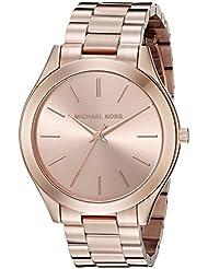 Michael Kors Womens Runway Rose Gold-Tone Watch MK3197