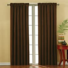 Eclipse Suede 42-Inch by 84-Inch Thermaback Blackout Panel, Chocolate