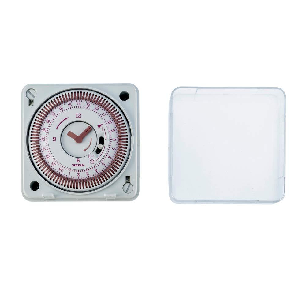 - 1 canal MARCHE//ARR/ÊT Horloge universelle analogique programmable toutes les 15 minutes quartz GR/ÄSSLIN 02.80.0001.1 programme journalier tactic 211.1 AC 230 V