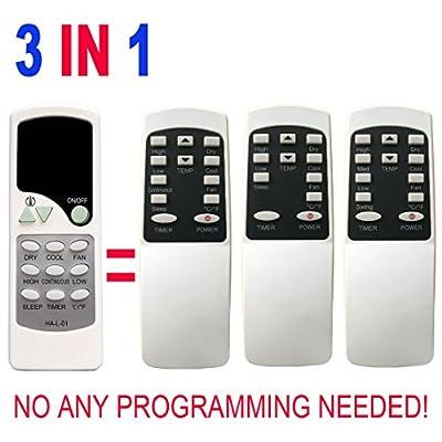 HA-L-01 Replacement for LG Window Air Conditioner Remote Control COV30332908 COV30332906 COV30332903 for LP0910WNRY2 LP1013WNR LP1014WNR LP1015WNR LP0711WNR LP0711WNRY2 LP0813WNR LP0814WNR LP0815WNR