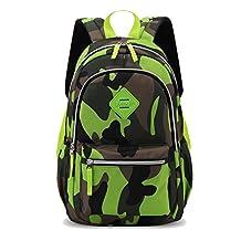 Tibes School Student Backpack Camouflage Waterproof Unisex Kids Backpack Cooler