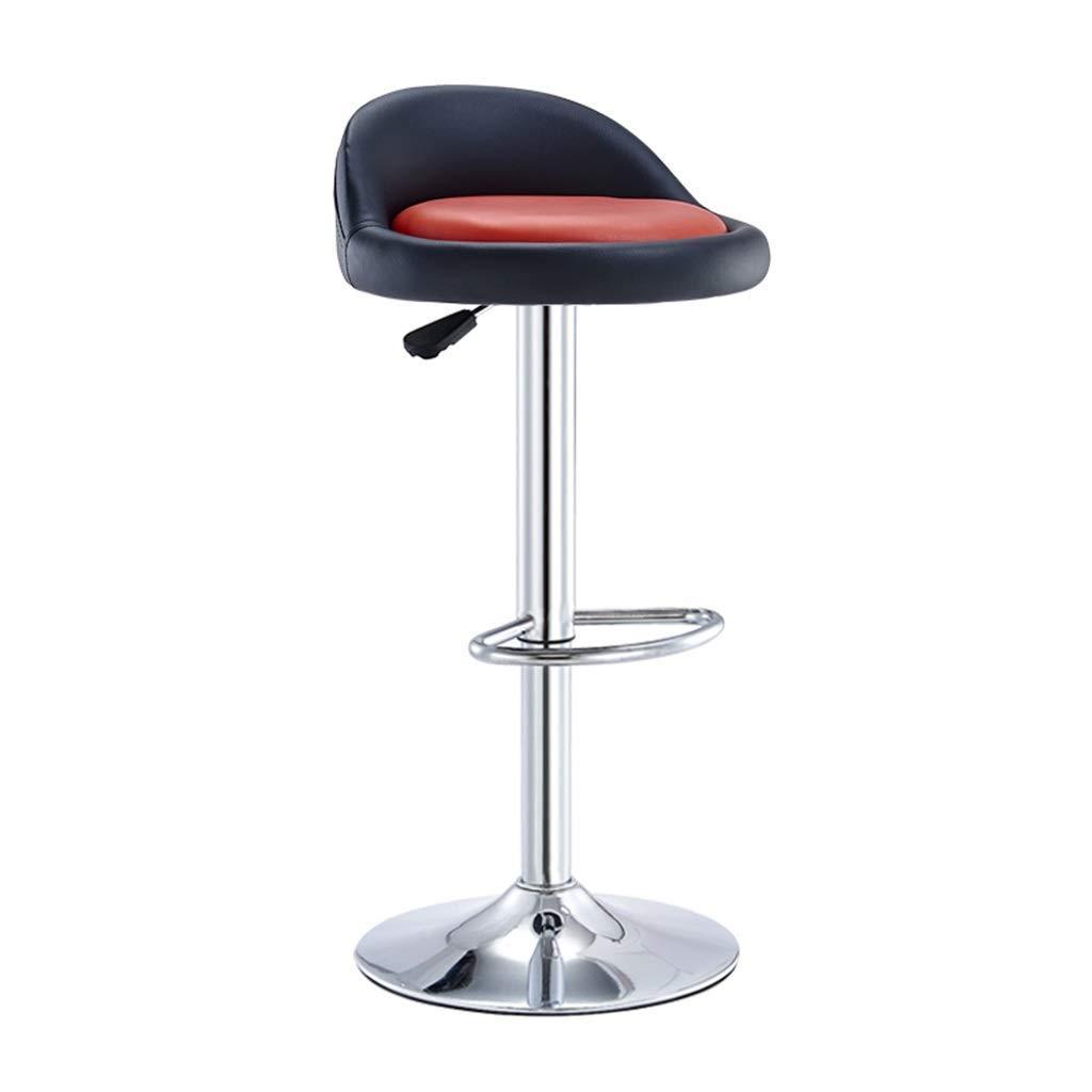 Black Swivel Chair Built-in Bar Stool PU Leather Generation Simple Adjustable Swivel Chair,Black