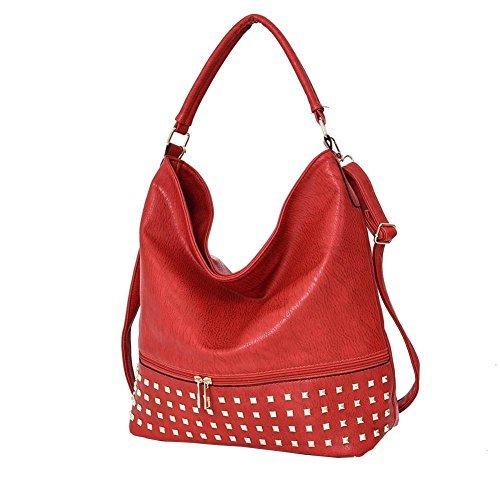 Red Beige For Haute Hobo Studded Diva Haute Women Women Diva Bag For ZwBPg4x