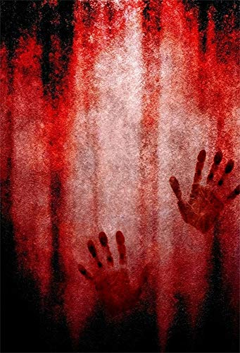 AOFOTO 5x7ft Murder Night Bloody Wall Halloween Backdrop