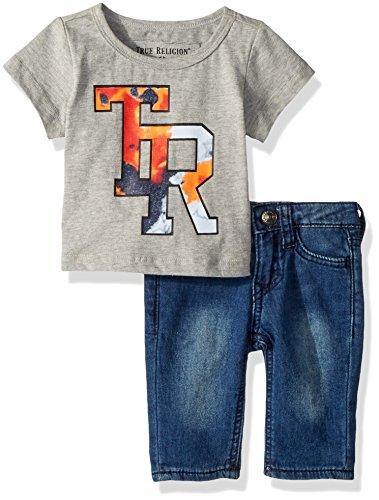 (True Religion Baby Boys Tee Set, Heather Grey, 24M)