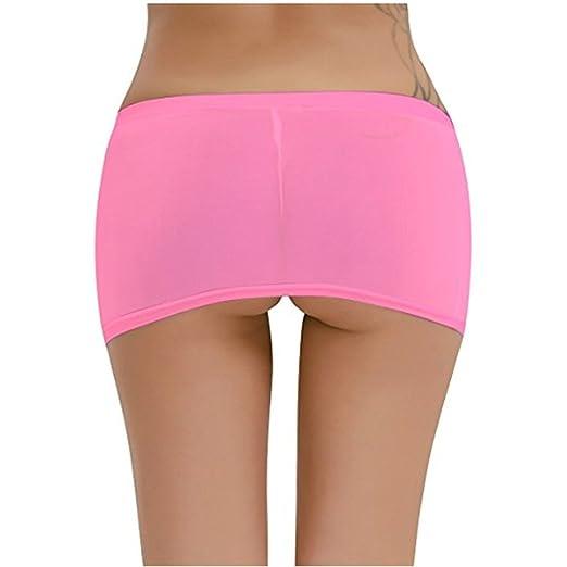 6030b321e63 IGIG Women s Sexy See Through Clubwear Short Dresses Hip Mini Skirts (Pink