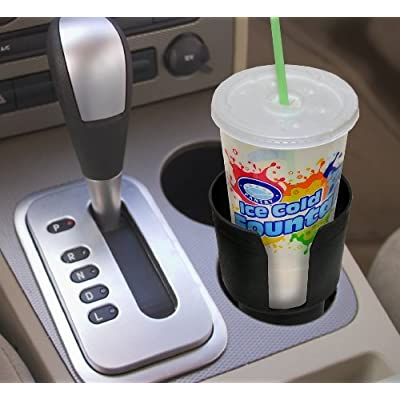 Gadjit Cup Keeper Adapter (2 Pk) expands Narrow Car Cup Holders from 2.5-3