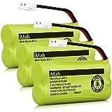 iMah Ryme B2-1 BT800 BT8300 Cordless Phone Batteries Compatible Vtech CS6209 CS6219 CS6229 DS6121 DS6221 Motorola L601M L602 L603M L701 L702M L903 L513CBT DECT 6.0 Home Handset Telephone (Pack of 3)