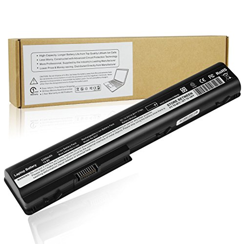 Futurebatt 8Cell Laptop Battery for HP Pavilion dv7 dv7t dv7t-1000 dv7z dv7z-1000 dv7-3150sg dv7-3152ca dv7-3153ca dv7-3155eb etc, DV8 DV8t HDX18t 464059-141 480385-001 Notebook (Dv7 Replacement Hp Battery)