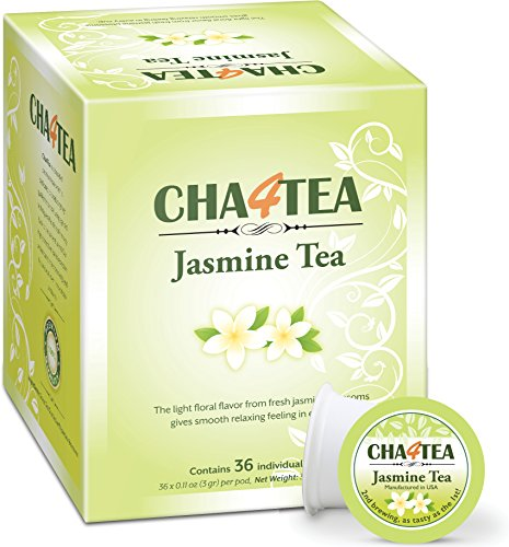 Cha4TEA 36-Count Jasmine Green Tea K Cups for Keurig K-Cups