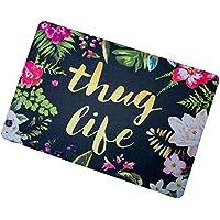 Thug Life Flowers Doormat Entrance Mat Floor Mat Rug Indoor/Bathroom Mats Rubber Non Slip (23.6x15.7,L x W)