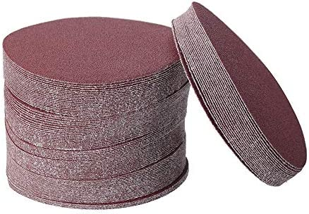 Construction Tool Accessories Polishing Tool Acces 5 Inch Polishing Sandpaper Discs 100 Grit Round Hook and Loop Flocking 100 pcs