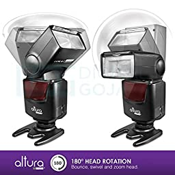 Altura Photo AP-UNV1 DSLR Camera Flash Speedlite for Canon Nikon