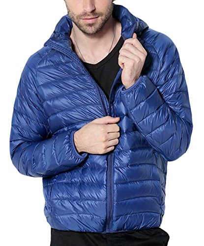 EKU Blue Coat US Men's Royal Hooded M Jacket Down Puffer With Packable Hood rqrZnw7t