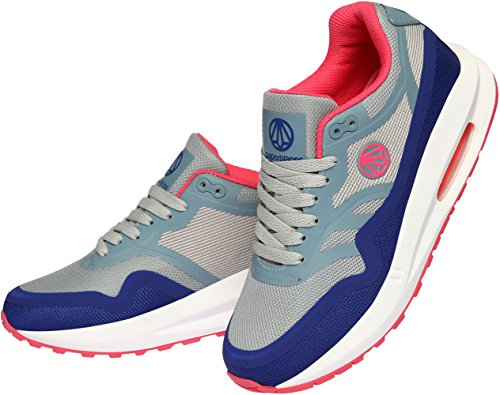 Paperplanes-1331 Unisex Trendy Air Cushion Tall Up Sneakers Gray Navy Pink o3rpxr6R