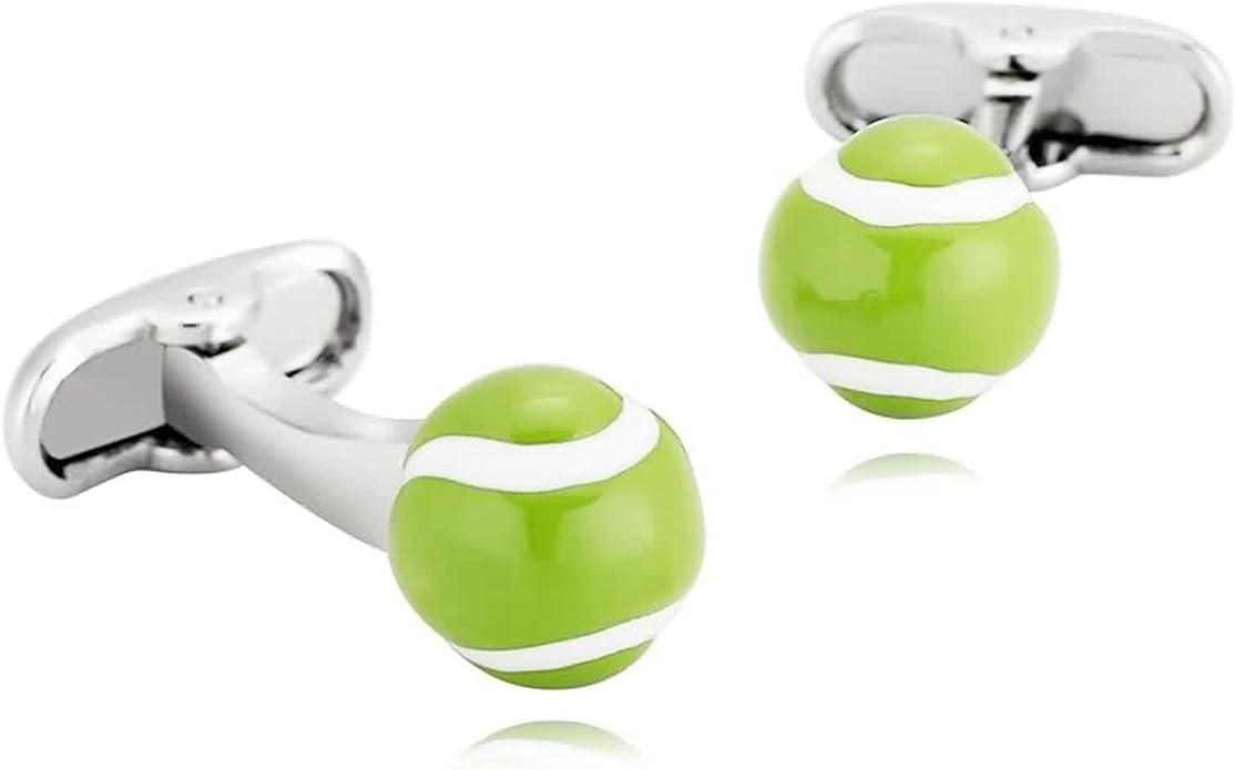 cufflinks set novelty cufflinks mens cufflinks sporty cufflinks Tennis Ball Cufflinks sports cufflinks love tennis