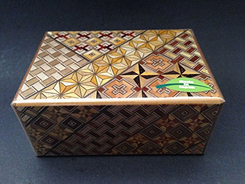 Japanese Samurai Handmade Wooden Yosegi Magic Secret Trick Puzzle Box 7 Steps HK-122 (Box Japanese Puzzle Steps)