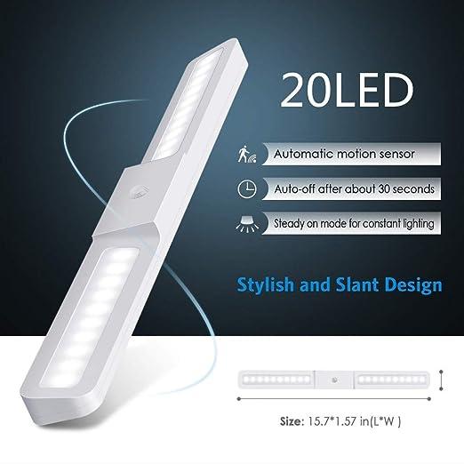 Wing Luz LED Armario con Sensor de Movimiento,USB Recargable ...