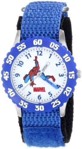 Marvel Kids' W000103 Spider-Man Stainless Steel Time Teacher Watch