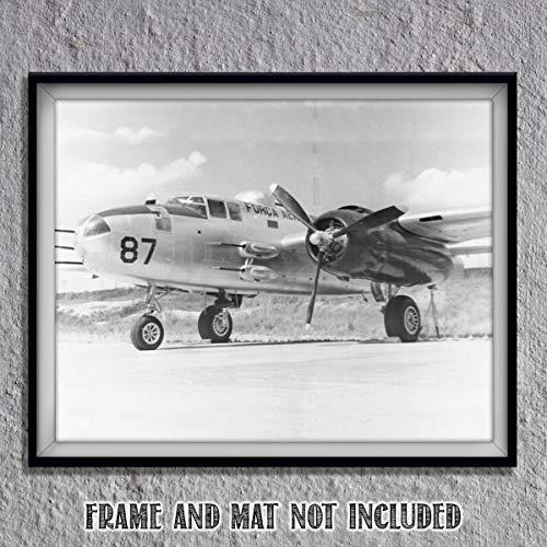 B-25 War-Plane Vintage Print- 10 x 8
