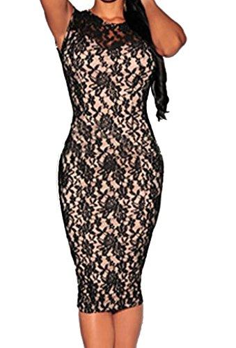 Zkess Women's Sleeveless Lace Cocktail Party Dress Medium - Endless Summer Dress