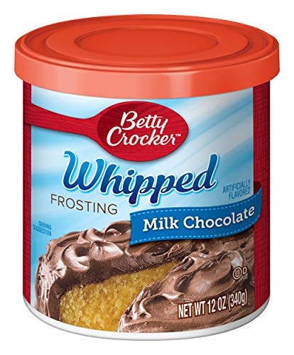 Betty Crocker Whipped Frosting, Milk Chocolate, 12 oz Canister (The Best Whipped Frosting)