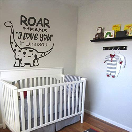 (Giapy Wall Stickers Decals Art Words Sayings Removable Lettering Roar Means I Love You in Dinosaur Kids Sticker Kids)