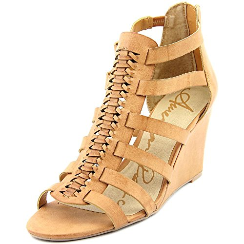 American Rag Womens Kyle Open Toe Ankle Strap Wedge Pumps Natural