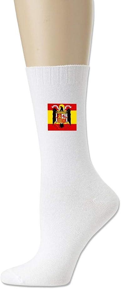 Calcetines unisex de algodón con bandera española, estilo casual, calcetines blanco Talla única: Amazon.es: Ropa y accesorios