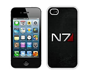 Hot Sale iPhone 4 4S Case ,Mass Effect N7 Font Background Shadow White iPhone 4 4S Cover Unique And Popular Designed Phone Case