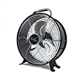 Vie Air High Velocity Powerful and Quiet Dual Speed Sleek Design Durable Metal Drum Fan, 12'' W