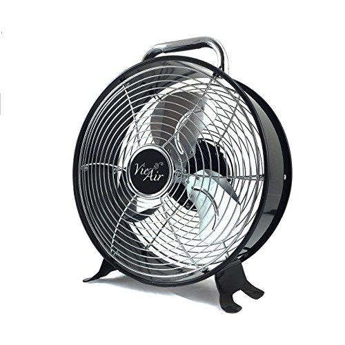 Vie Air High Velocity Powerful and Quiet Dual Speed Sleek Design Durable Metal Drum Fan, 12'' W (High Speed Dual Window Fans)