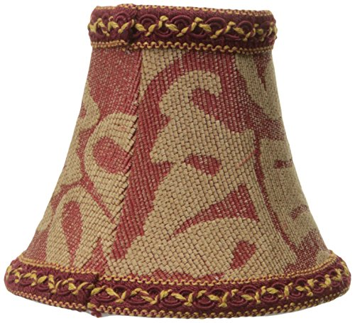 Lite Source CH522-6 6-Inch Lamp Shade, Red - Fabric Jacquard Shade